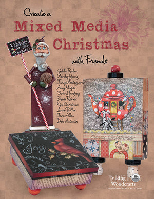 Create a Mixed Media Christmas with Friends by Combined Artists