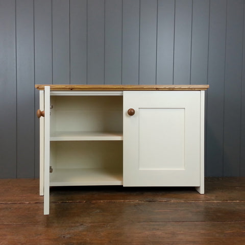Country Storage Cupboard with 2 Shelves