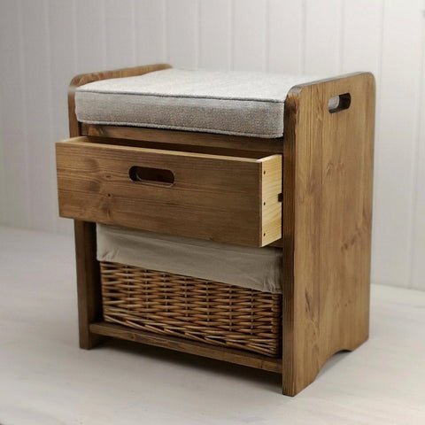 Single Farmhouse Storage Settle