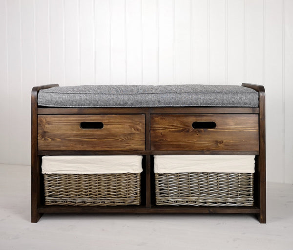 Double Farmhouse Storage Settle