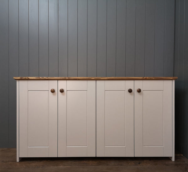 Large Country Storage Cabinet with 3 shelves