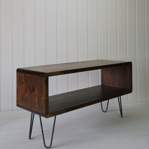 Long lowboard cube style coffee table storage