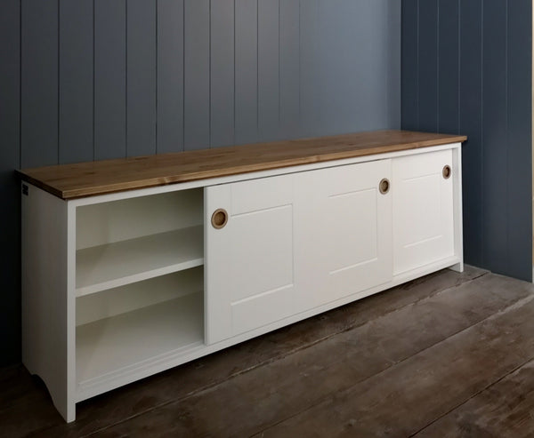 Country Utility Storage Cupboard with sliding doors