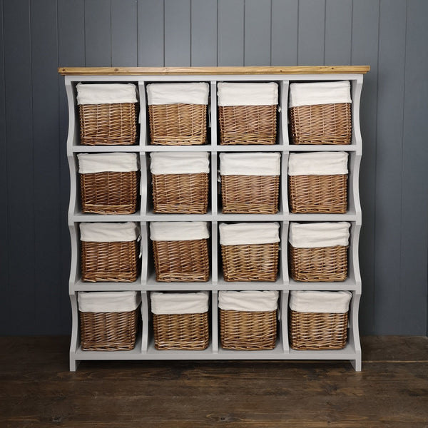 Large Country Cubby Chest With Baskets