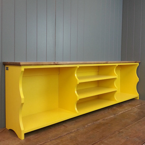 'The Yellow One' Double Boot and Shoe Bench