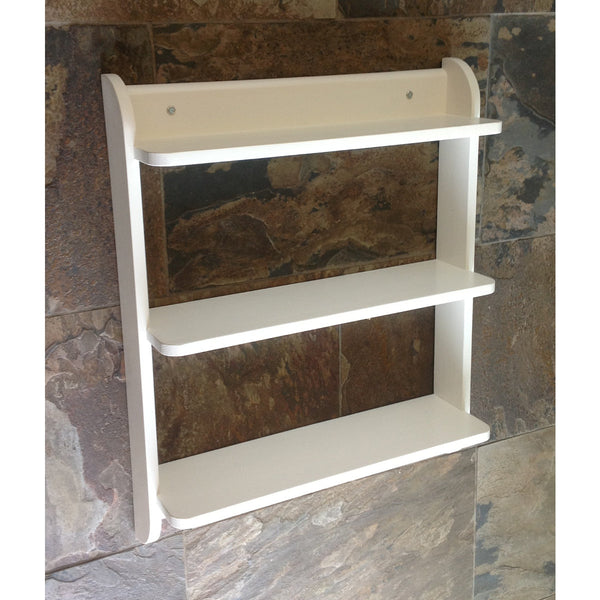 Wall mounted shelf unit. Painted kitchen shelves or cd dvd and paperback book shelves