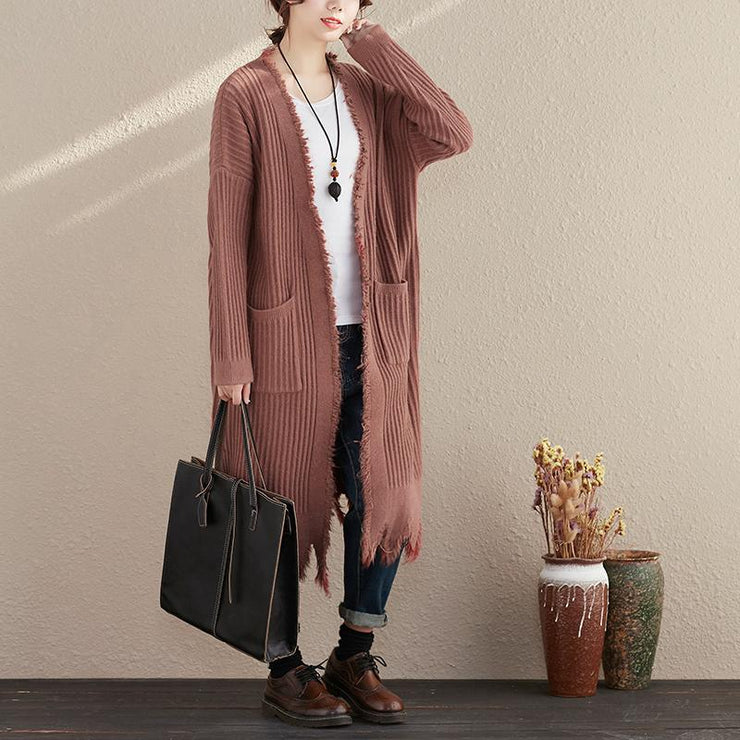 Autumn Casual Coat Solid Tops Cardigans Long Long Sleeve