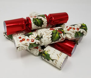 English Christmas Crackers.Robin Reed English Holiday Christmas Crackers Pack Of 10 8 5 Inch Bows And Berries