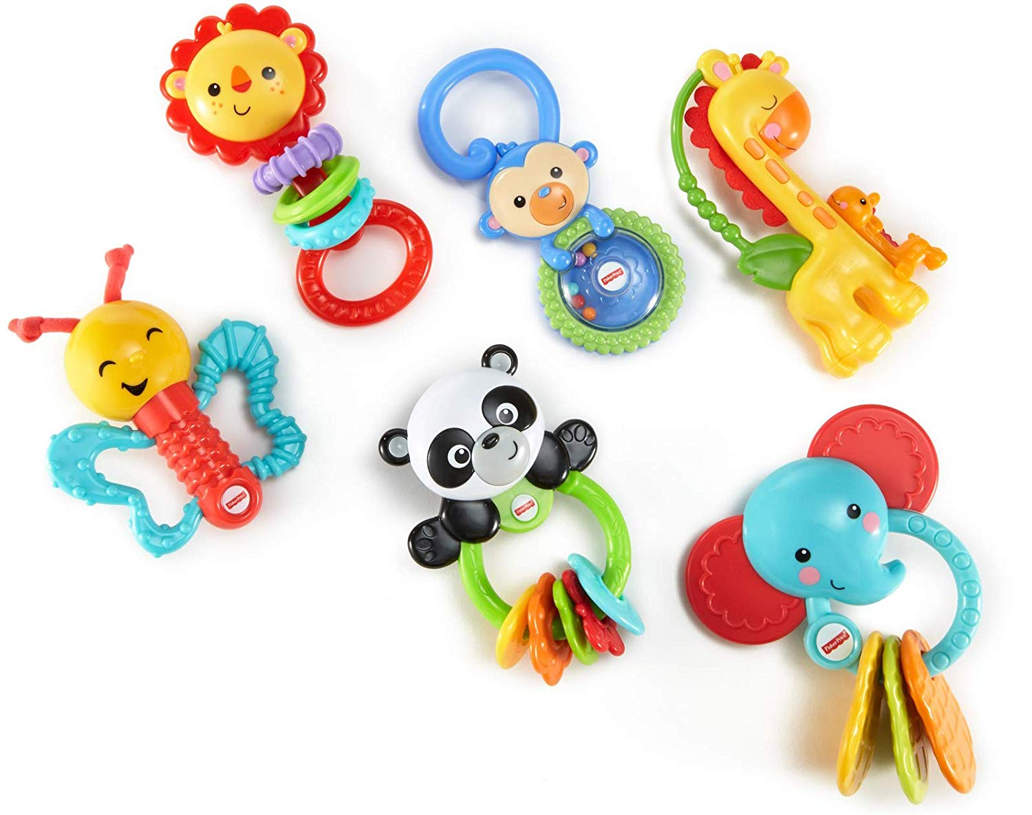 New Fisher-Price Playful Pals Gift Set Developmental Baby Toys 3 M