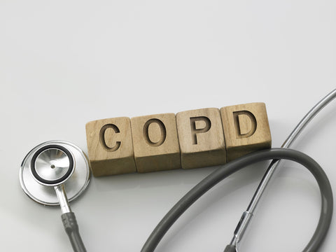 copd blocks and stethoscope