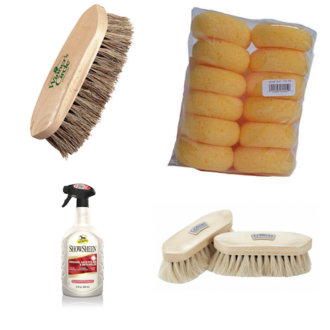 f you are someone who does your grooming at shows, here is a list of grooming supplies that can help you and your horse look as good as you feel.