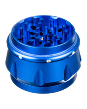 Blue 4-Piece Diamond Crest Aluminum Grinder