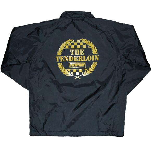 Tenderloin Fan Club' Black Coach Jacket