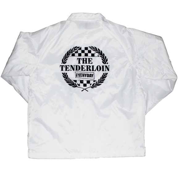 'Tenderloin Fan Club' White Coach Jacket