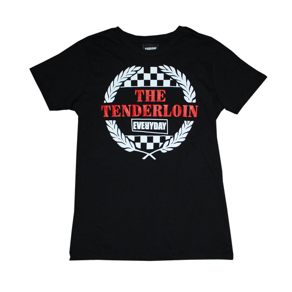 'Everyday Tenderloin Fan Club' Women's Black T-Shirt