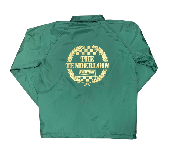 'Tenderloin Fan Club' Forest Green Coach Jacket