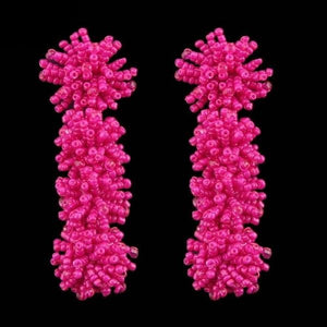 Pink Anemona Earrings - Cokota