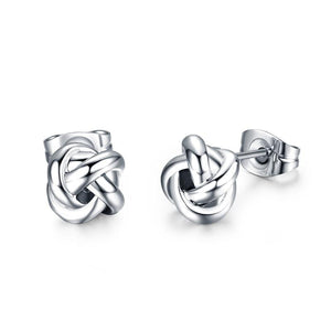 Silver Knots Earrings - Cokota