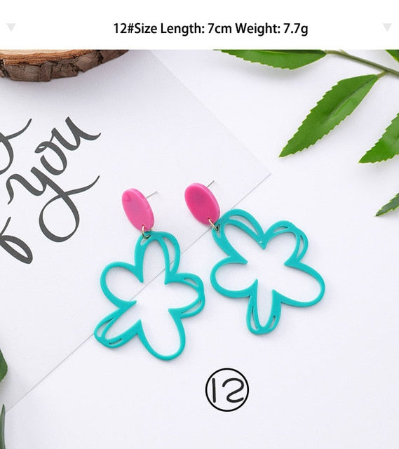 Abstract Flower Earrings - Cokota