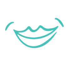 Illustration of woman's smile.