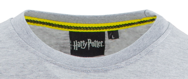 Licensed Unisex Applique Embroidery Hufflepuff T Shirt Harry Potter - British Heritage Brands