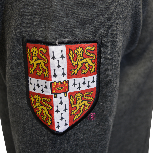 Licensed Unisex Cambridge University Zipped Hooded Sweatshirt Charcoal - British Heritage Brands