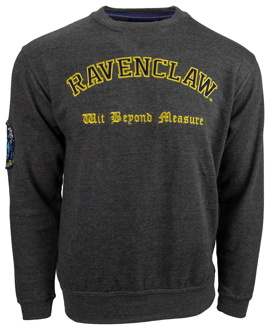 HP201 Licensed Unisex Harry Potter Ravenclaw Embroidered Sweatshirt