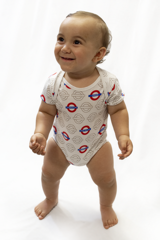 Licensed London Underground Mind the Gap Roundel Baby Grow New Limited Edition