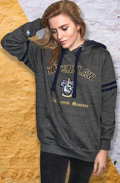 Licensed Unisex Ravenclaw Hooded Sweatshirt-Charcoal Harry Potter - British Heritage Brands