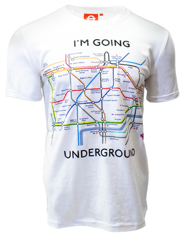 Licensed TFL104Kw Kids Unisex London Undergound Map Print T Shirt White