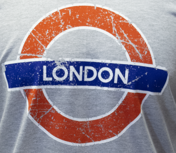 Licensed TFL101LON Unisex London Undergound T Shirt Grey