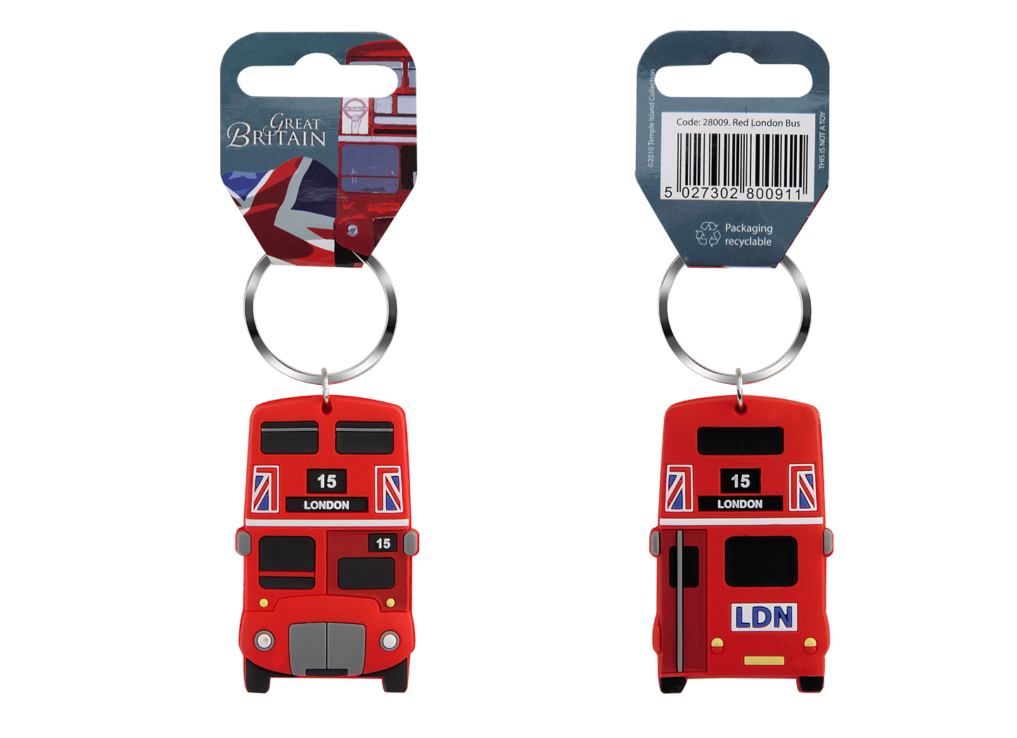 London famous Red Bus Keyring, High Definition Print Gift Souvenirs - British Heritage Brands