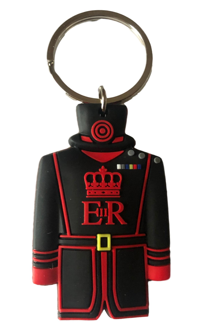 Beefeater yeoman wader Keyring Queen High Definition Print - British Heritage Brands
