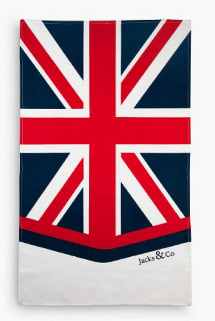 Jack & Co Union Jack Classic Design Tea Towel large Size Cotton