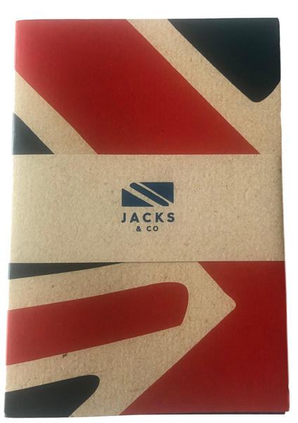 Jack & Co Set of 3 Union Jack Note Books Size A6 Recycled