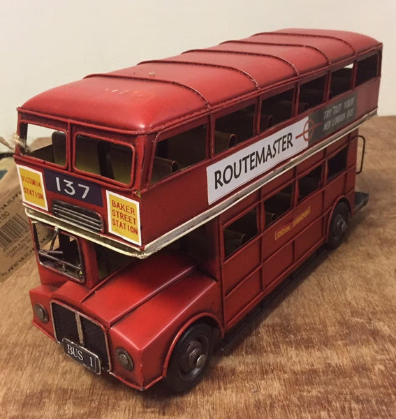 Collectable London Transport Red Tin Double Decker London Bus -  Vintage Transport Collection
