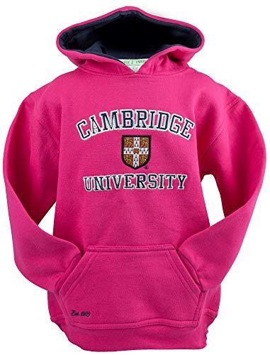 Cambridge University Licensed Unisex Kids Hooded Hoodie Sweatshirt Hot Pink Colour (11-13)