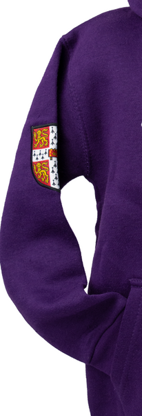 Cambridge University Licensed Unisex Kids Zipped Hooded Hoodie Sweatshirt Purple Colour (11-13)