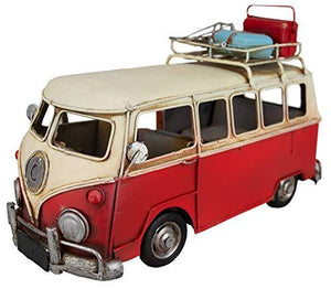 GWCC Collectable Vintage Classic Camper Van 28cm Old Classic Look with Doors