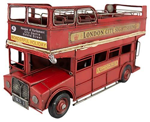 British Heritage Brand Vintage Classic Collectable London Routemaster Red Bus Sightseeing 33cm Distressed