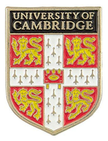 Licensed Official Cambridge University Pin Badge with shield crest