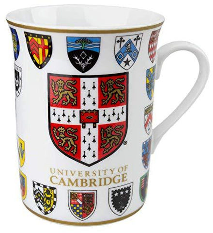 Licensed Official Cambridge University College Crests Bone China Mug Gift Box