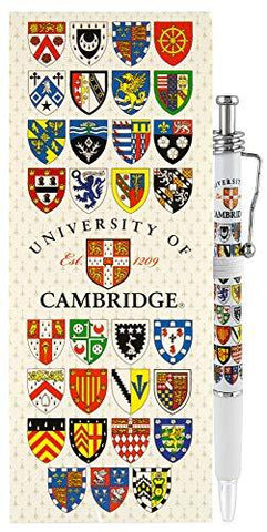 Licensed Official Cambridge University Notepad and Pen Set