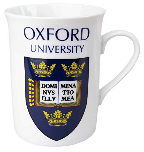 Official Licensed Oxford University Lippy Mug with Shield Crest Print Gift Box