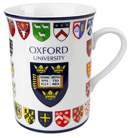 Official Licensed Oxford University College Crest Printed Mug Gift Box
