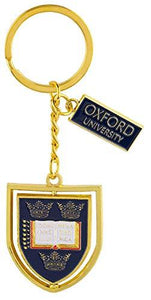 Licensed Official Oxford University Shield Spinning Keyring Keychain Keys Cars