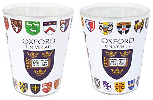 Licensed Official Set of 2 Oxford University Shot Glasses in Gift Box