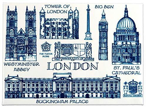 London Heritage Fridge Magnet with Backboard Artistic High Quality