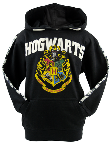 Licensed Unisex Kids Harry Potter Hogwarts Hoodie sizes 1 year to 13 years (1-2) Black