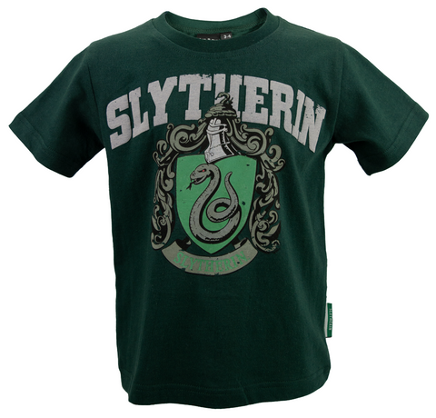 Licensed Kids Unisex Harry Potter Slytherin T-Shirt Sizes 1 Year to 13 Years (1-2) Green